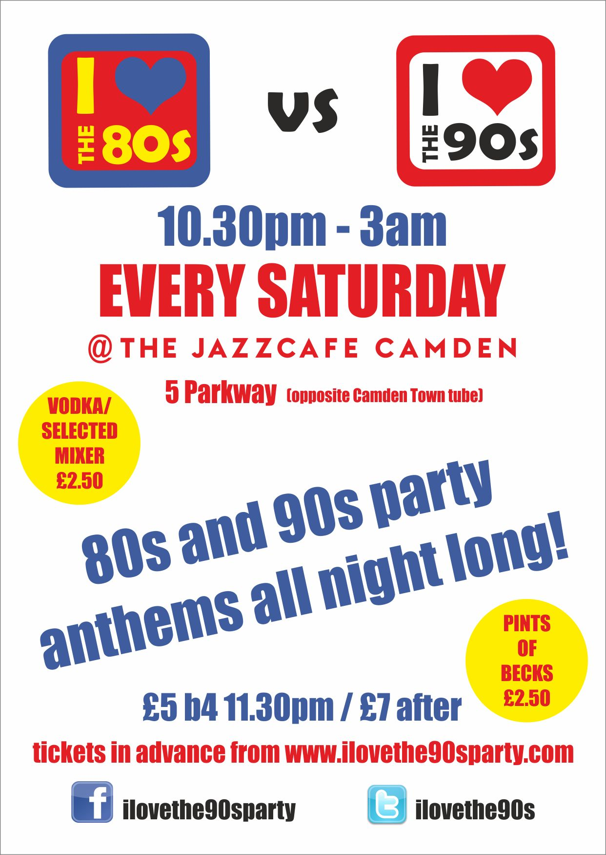 90s EVERY FRIDAY///80s vs 90s EVERY SATURDAY///HALLOWEEN PARTIES ...