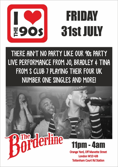Ilovethe90s_SCLUB7_BORDERLINE_flyer