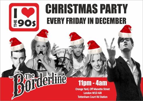 Ilovethe90s_BORDERLINE_CHRISTMAS flyer_FRONT