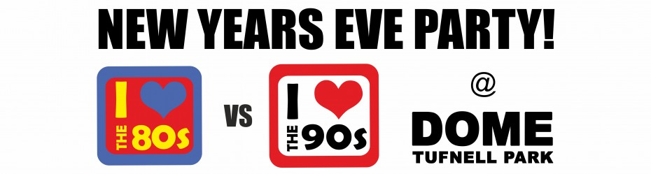 i love the 80s vs i love the 90s NYE logo