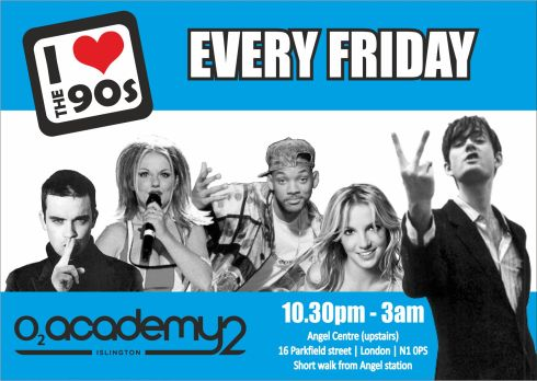 ilovethe90s_o2academy_flyer_front