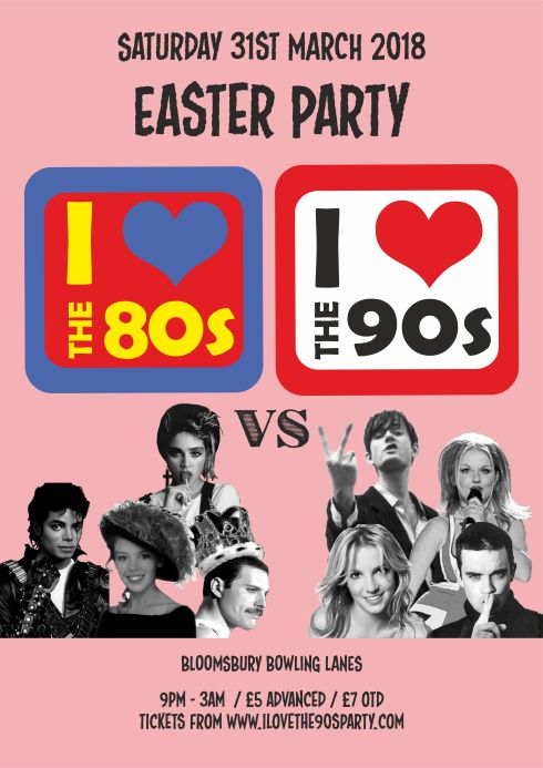 80vs90s_bloomsbury lanes_EASTER_ A3 POSTER
