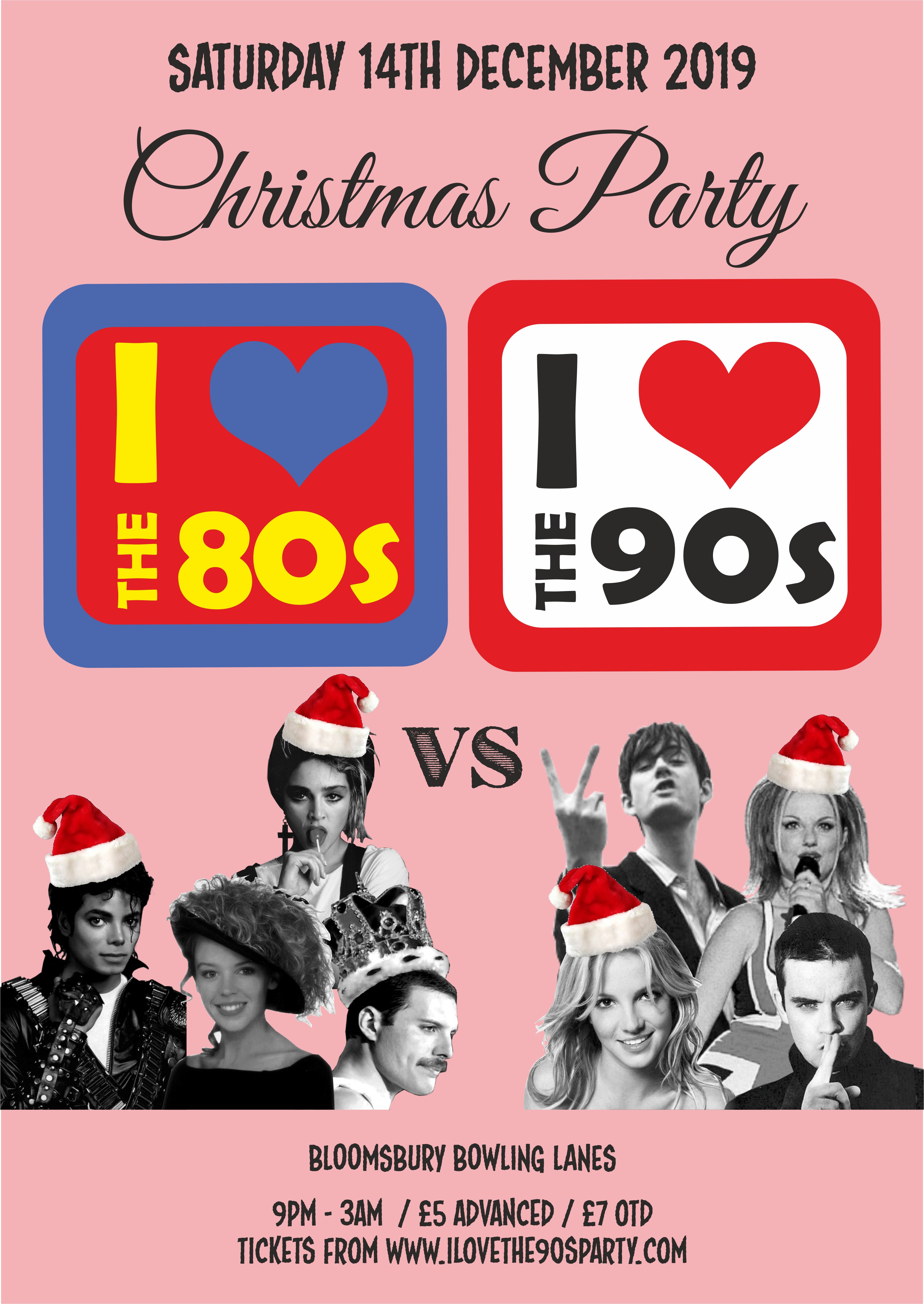 80vs90s_bloomsbury lanes_A3 POSTER_christmas copy